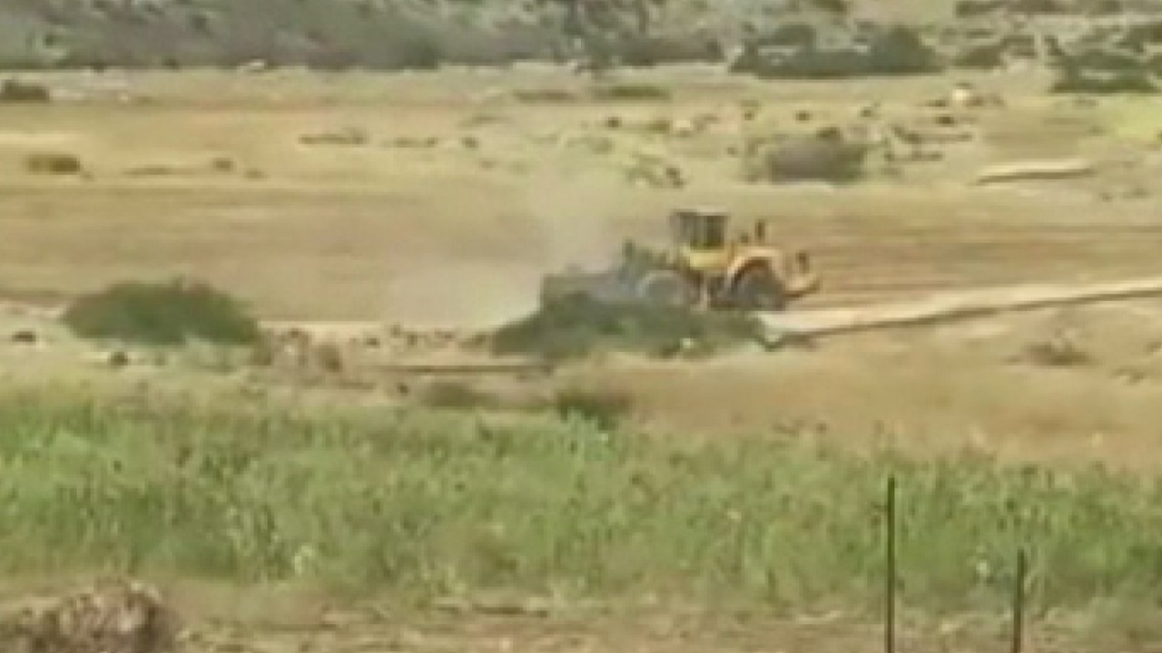 Filistinlilere ait sulama göletini yıktılar