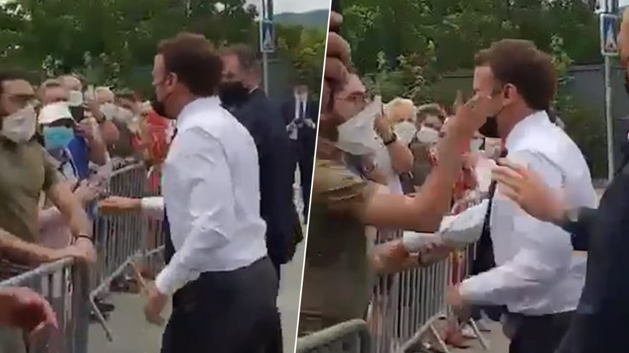 Emmanuel Macron'a tokatlı saldırı
