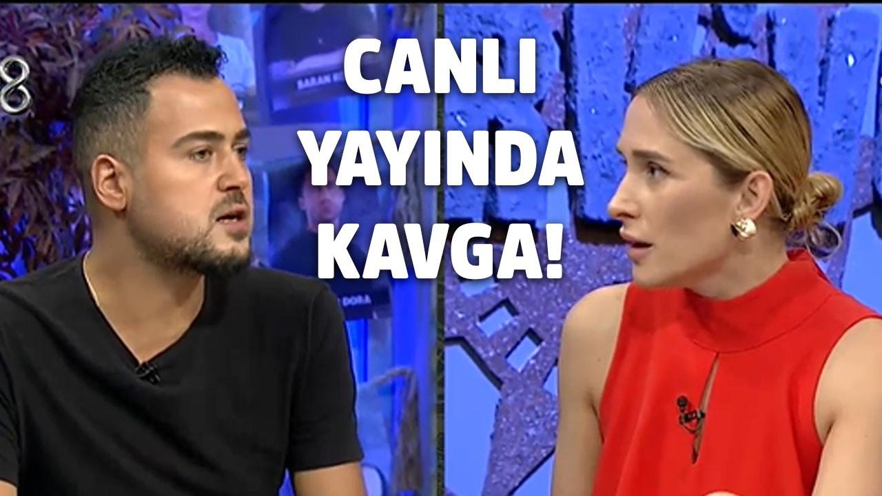 Survivor Ekstra canlı yayınına Sema Aydemir ve Furkan Dede'nin kavgası damga vurdu! Biz niye canımızı sıkalım ya!