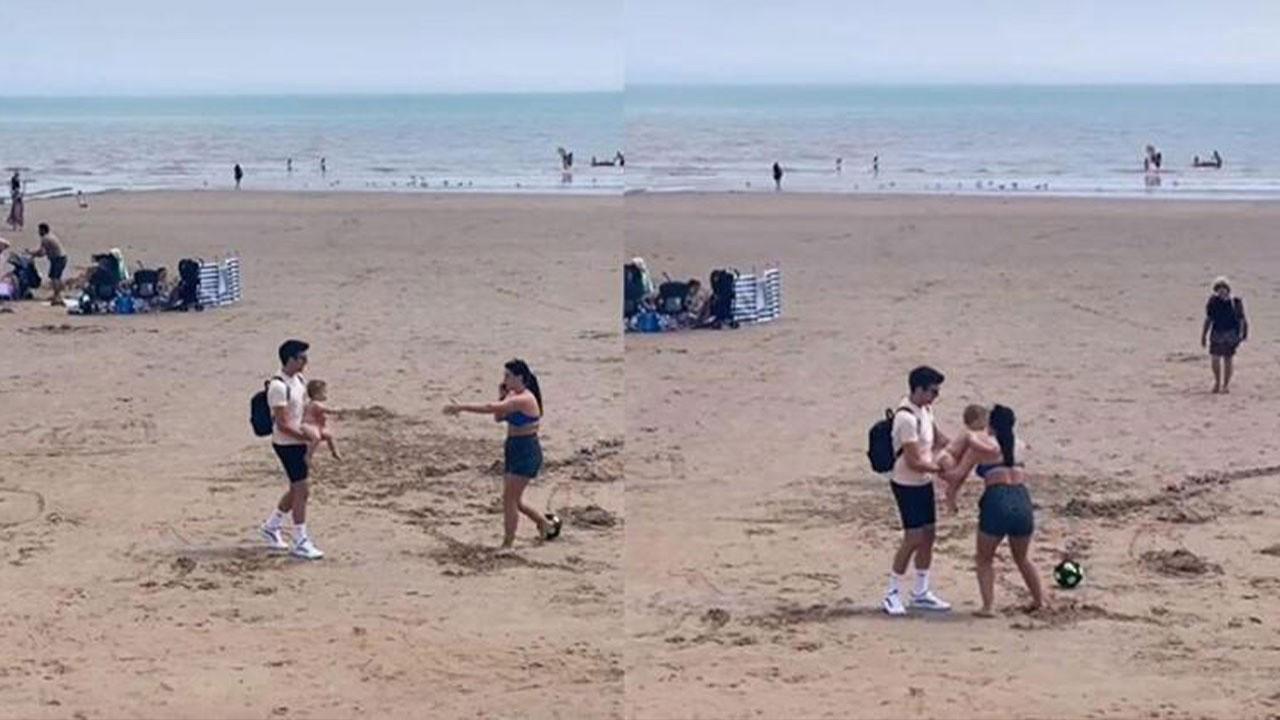 Plajda skandal! Annenin tepkisizliğine tepki yağdı