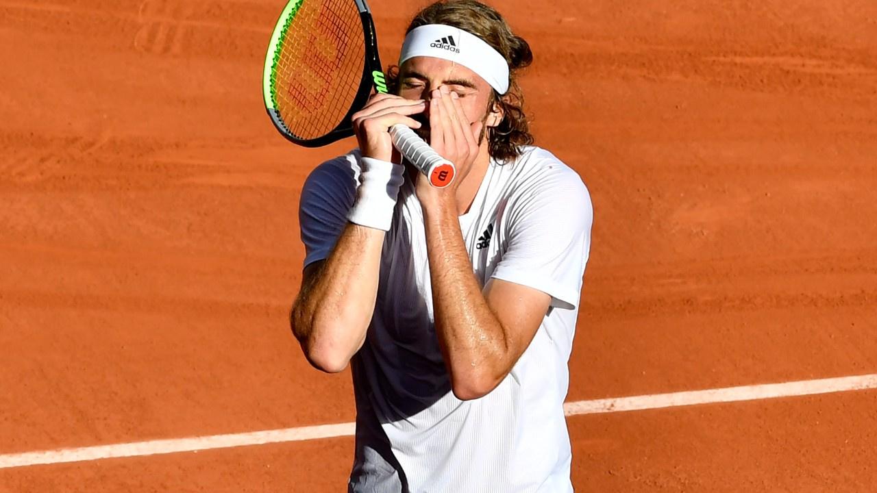 Roland Garros'ta ilk kez bir Yunan finale çıktı