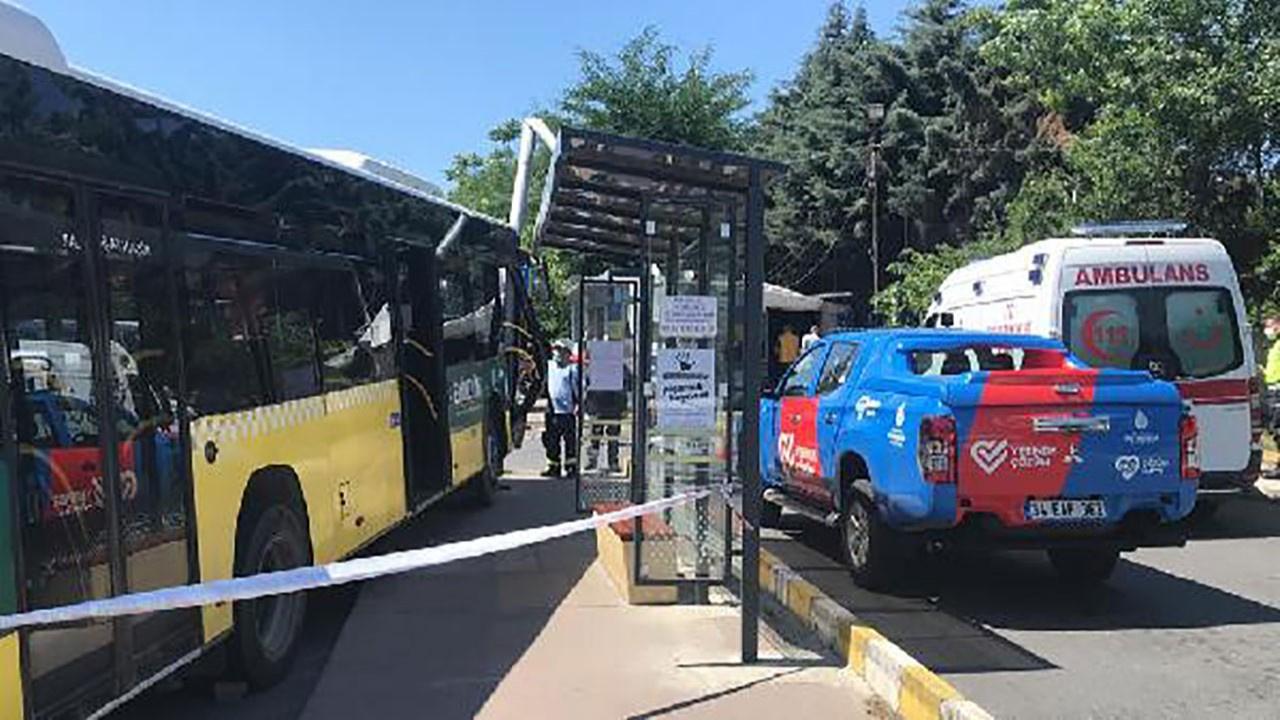 İETT otobüsü MOBESE kamerasına çarptı