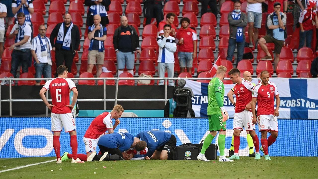 Danimarka - Finlandiya maçında üzücü olay! Eriksen'in kalbi durdu