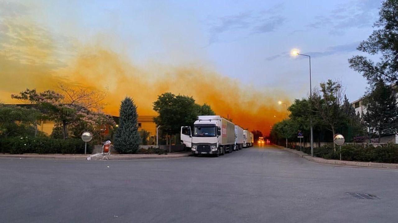 Kimyasal sızıntı nedeniyle gökyüzü turuncu oldu
