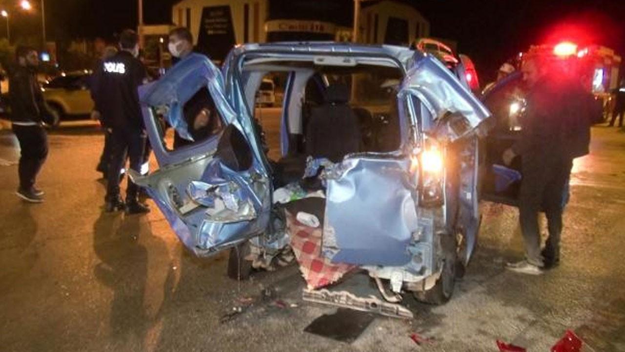 Erzurum'da iki araç çarpıştı! 10 yaralı