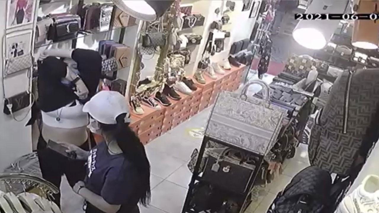 Kadın hırsız yakalanınca jiletle kendini doğradı!