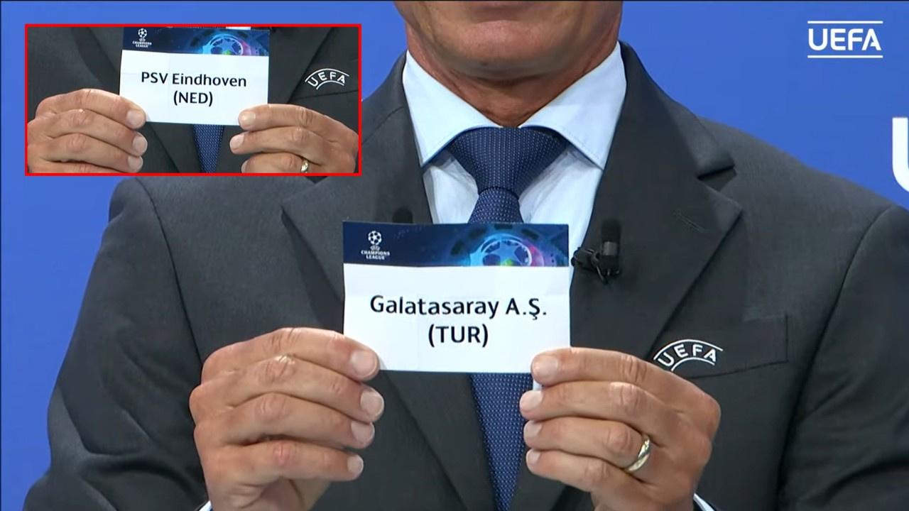 Galatasaray'ın Şampiyonlar Ligi eleme turundaki rakibi PSV Eindhoven oldu