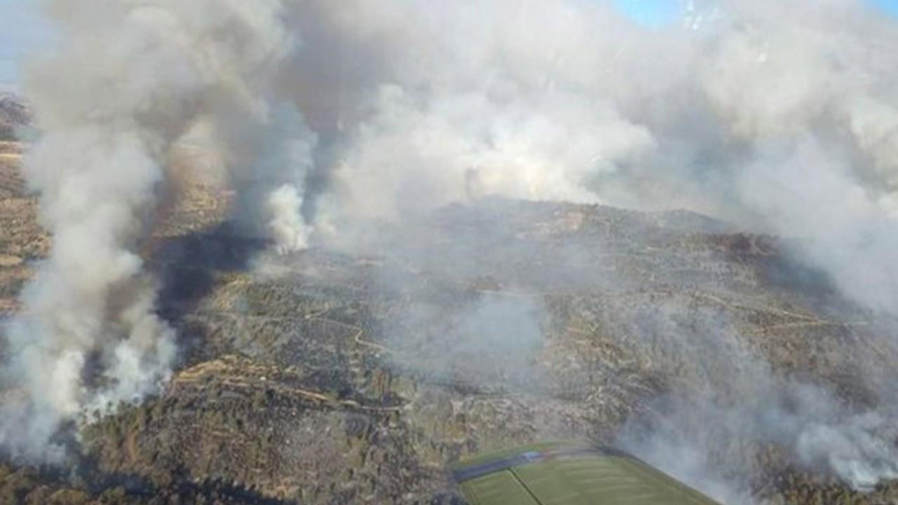 Güney Kıbrıs'ta yangın: 300 hektar orman zarar gör