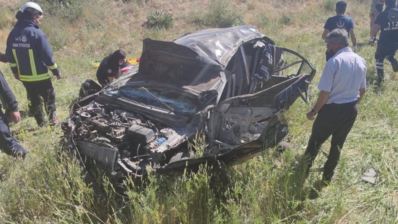 Feci kaza! Otomobil takla attı: 2 ölü, 1 yaralı