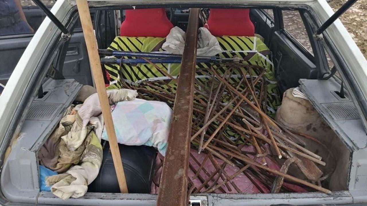 1500 liralık demir çaldı, maske cezası yedi