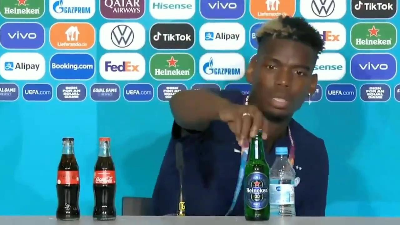 Pogba o şişeyi kaldırmıştı... UEFA'dan flaş karar