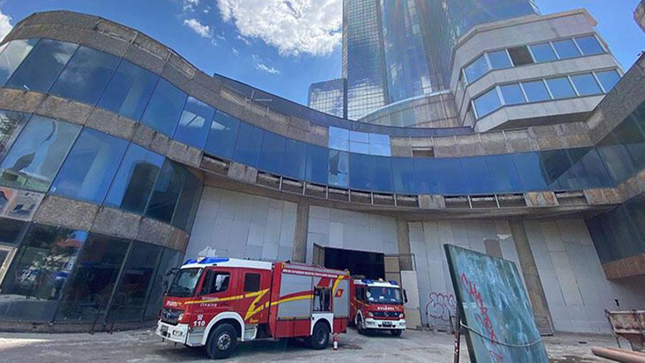 Ankara'da 35 katlı binada yangın