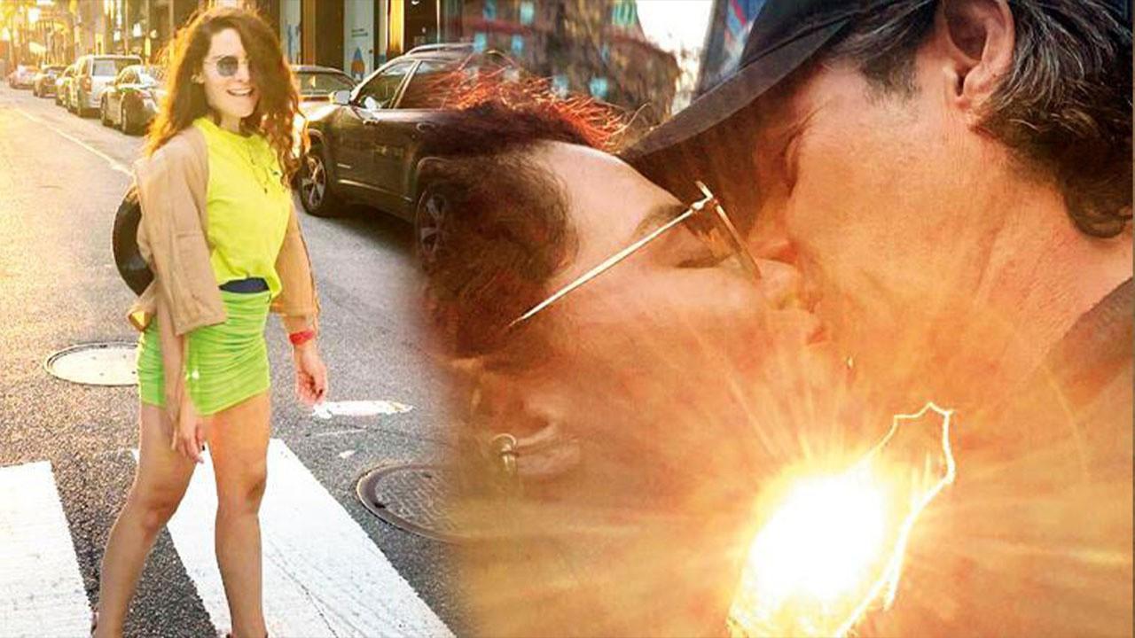 Belçim Bilgin sevgilisiyle sokak ortasında öpüştü!