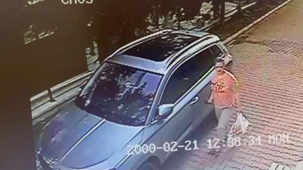 Komşusu sıfır otomobilini çizdi!