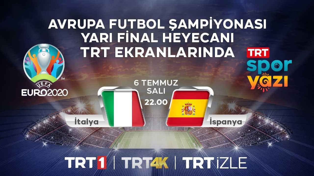 İtalya - İspanya maçı canlı TRT izle