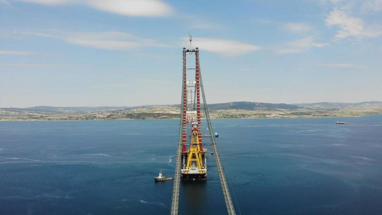 Çanakkale Köprüsü'nün askı halat montajı başladı
