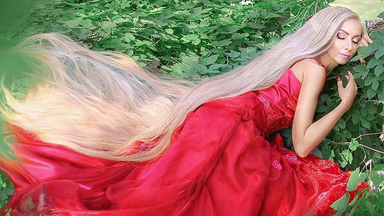 Saçları boyundan uzun! İşte gerçek Rapunzel!