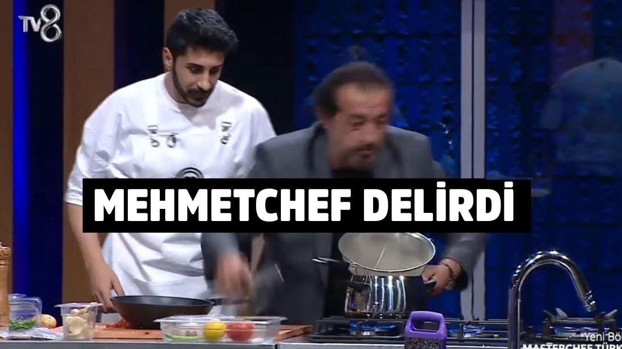 Masterchef Mehmet Şef stüdyoda delirdi!