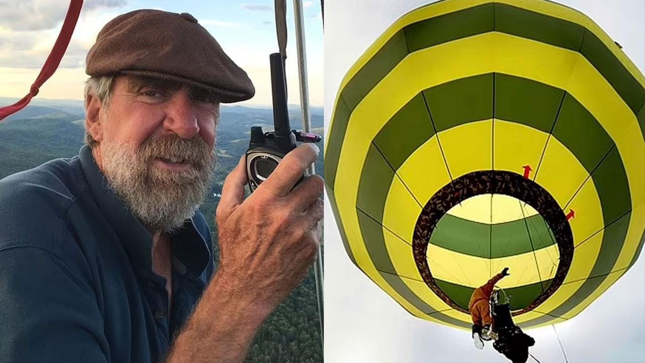 Korkunç olay! Sıcak hava balonunun pilotu düştü...