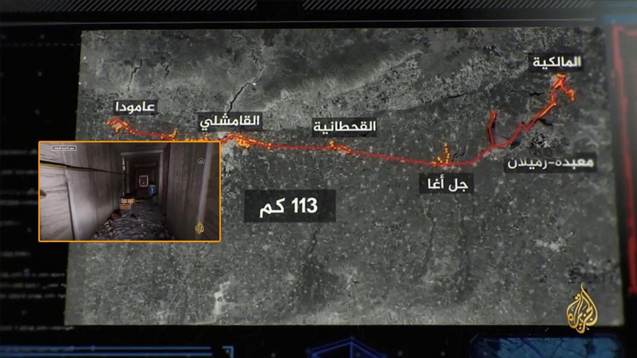 Sınıra sadece 185 metre uzakta YPG tünelleri