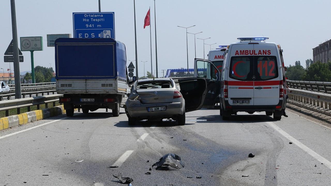 Bolu'da trafik kazası: Yaralılar var