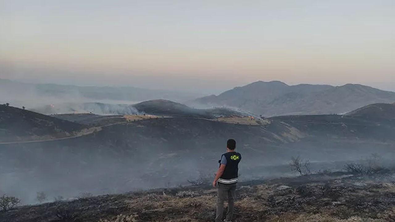 Elazığ'da korkutan yangın!