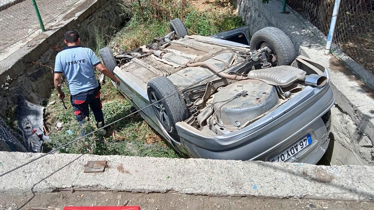 Su giderine düşen LPG'li araç paniğe neden oldu