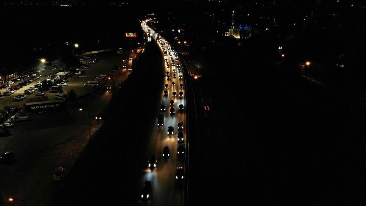 TEM Otoyolu'nda trafik yoğunluğu devam ediyor