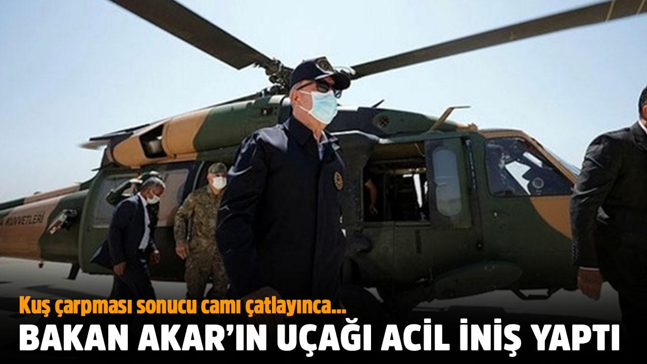 Bakan Akar'ın uçağı acil iniş yaptı
