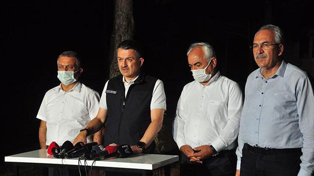 Bakan Pakdemirli Manavgat'taki son durumu açıkladı