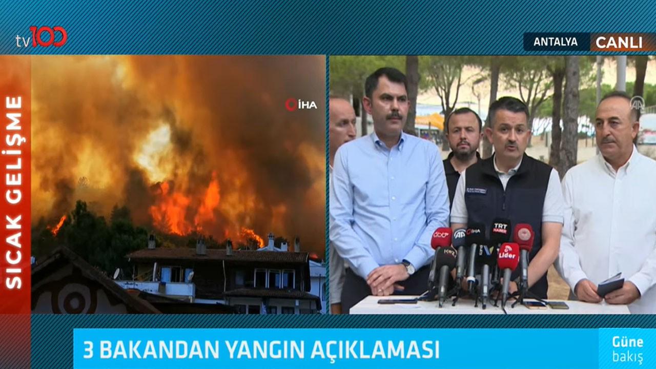 3 bakandan yangın açıklaması