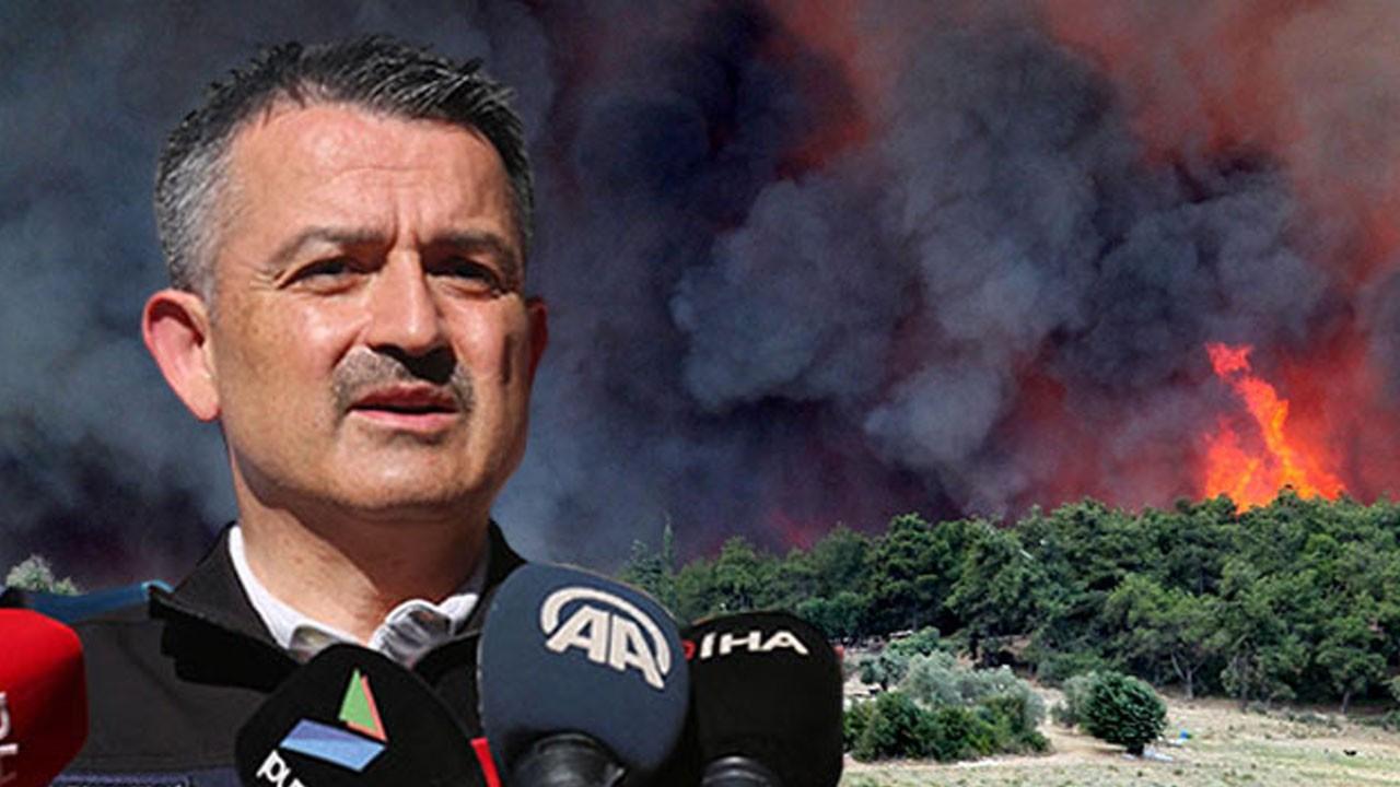 Orman yangınlarında son durumu paylaştı