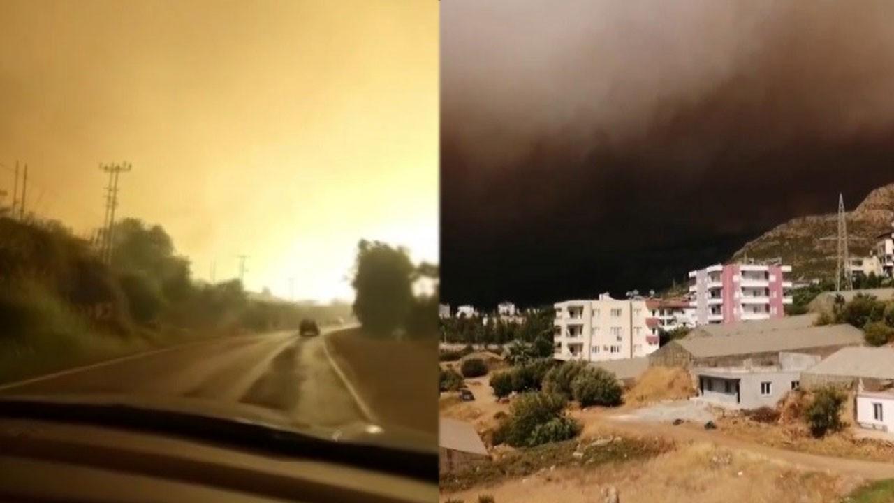 Mersin'deki orman yangını büyüyor!