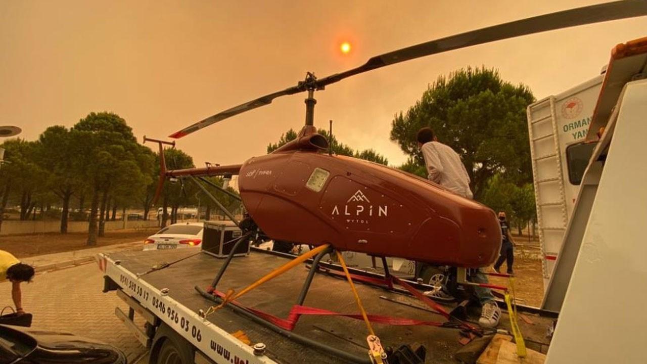 Manavgat yangını helikopter ile gözlenecek!