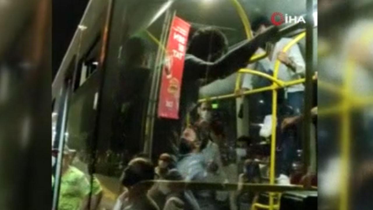 Otobüste maske kavgası!