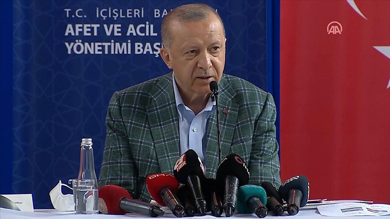Cumhurbaşkanı Erdoğan afet bölgesinde