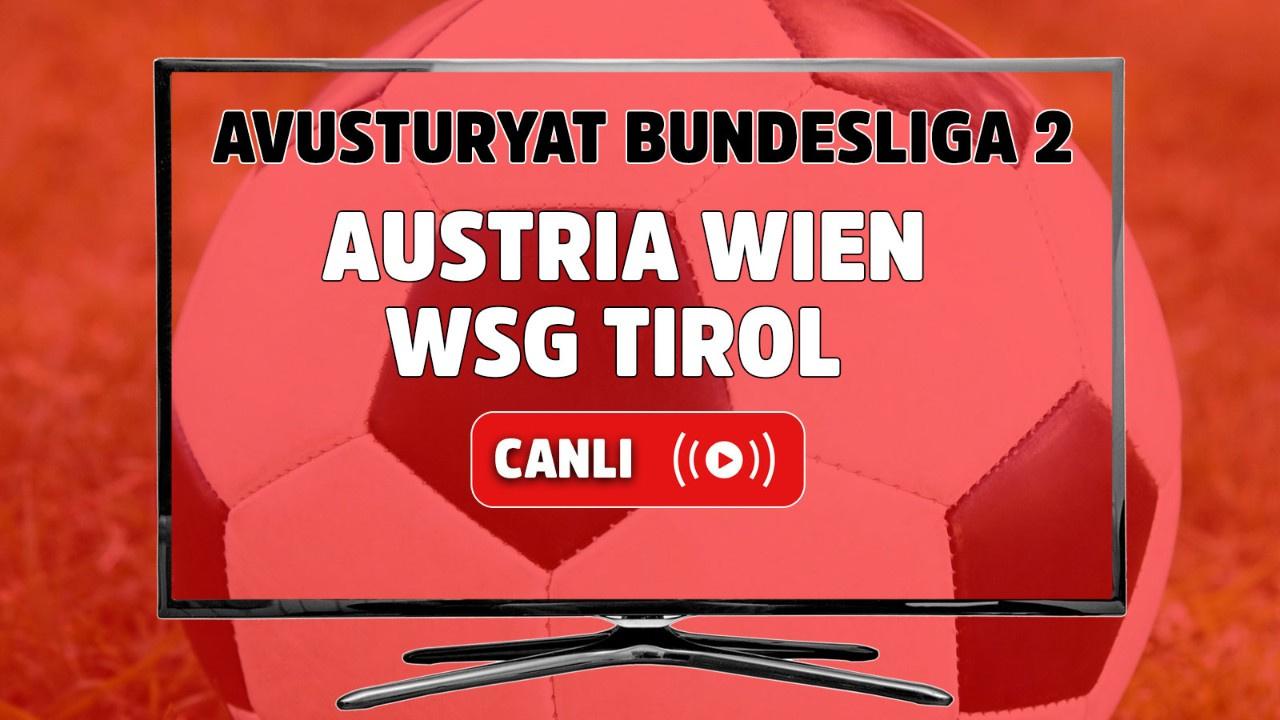 Austria Wien – WSG Tirol Canlı maç izle