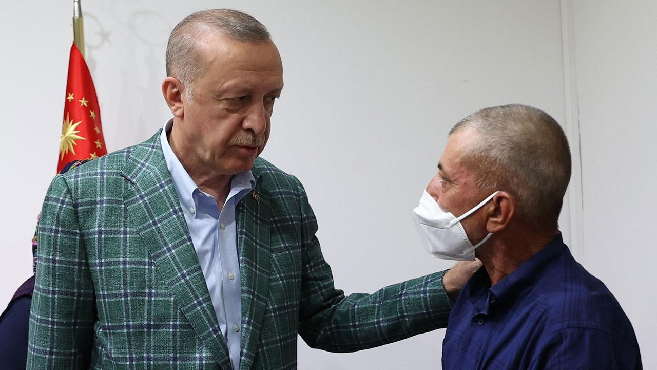 Erdoğan'dan Şahin'in ailesine taziye ziyareti