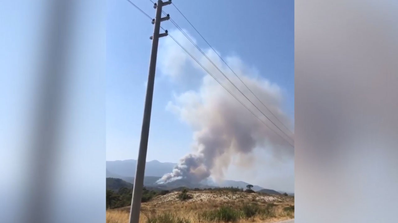 Saklıkent'te orman yangını çıktı