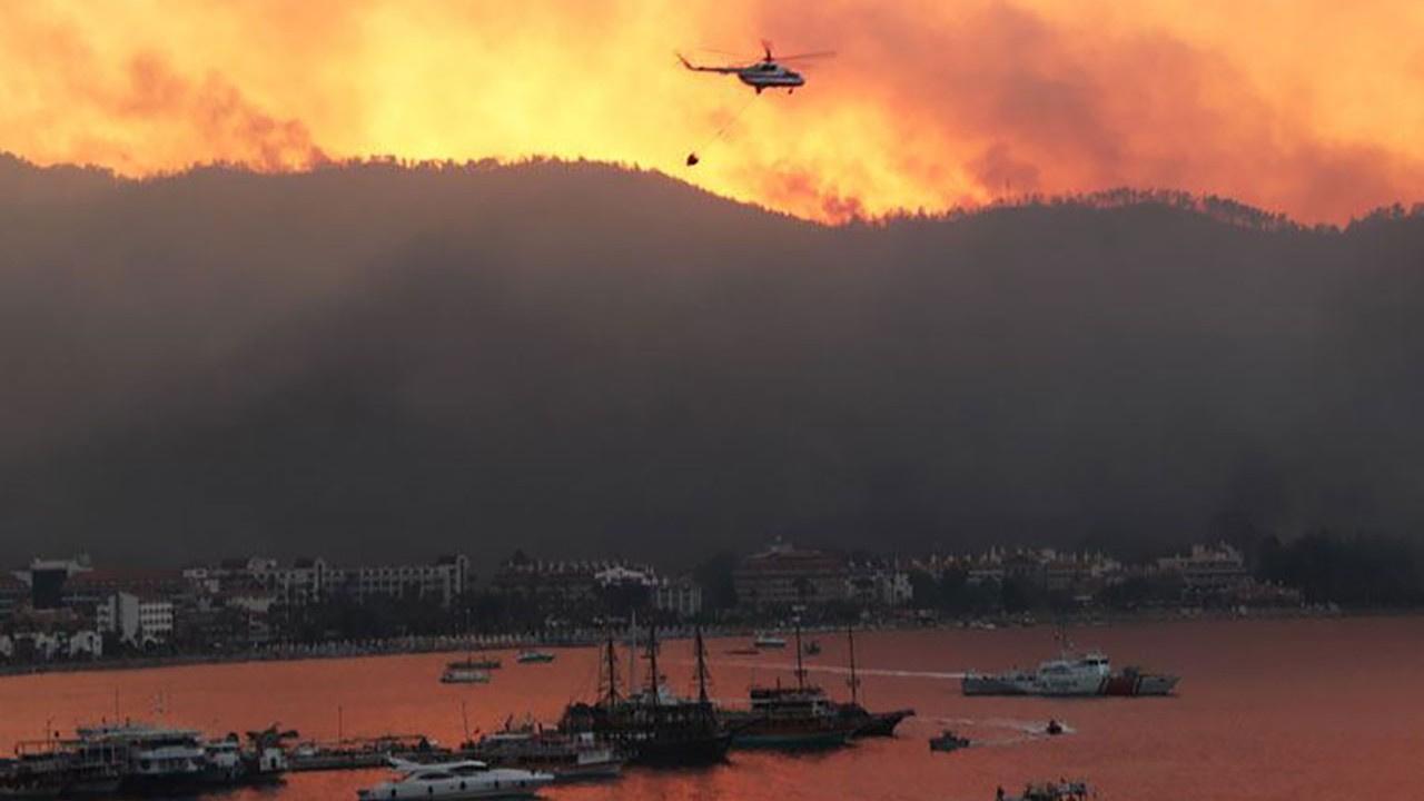 MSB, yangın bölgesine 2 çıkartma gemisi gönderiyor