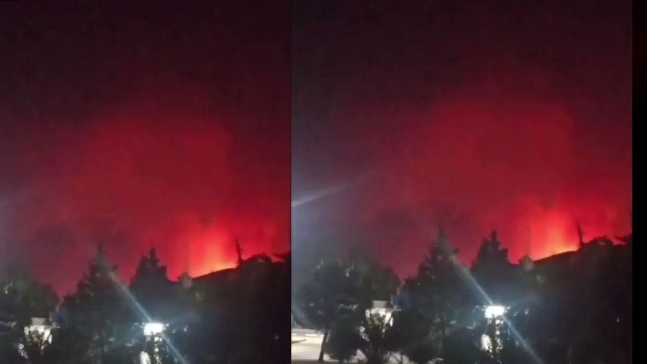 Yangın Kemerköy Termik Santrali'ne yaklaşıyor