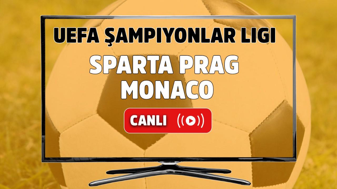 Sparta Prag – Monaco Canlı