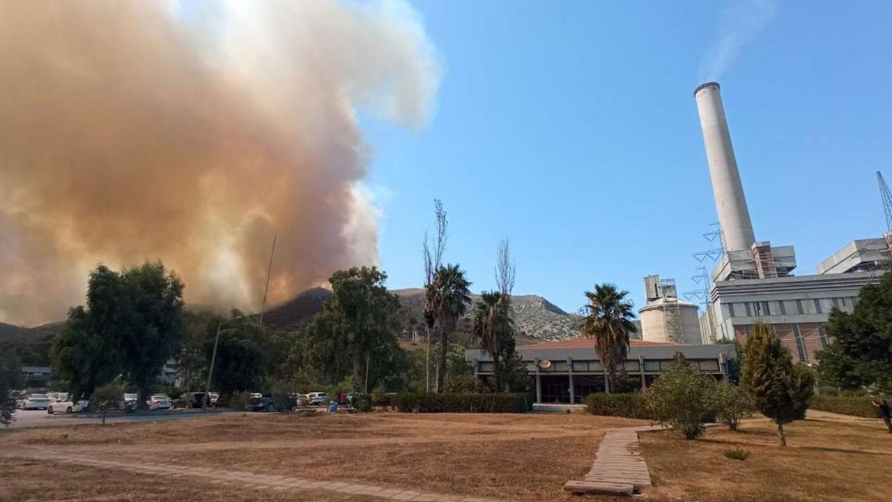 Tehlike büyüyor: Alevler termik santrale yaklaştı