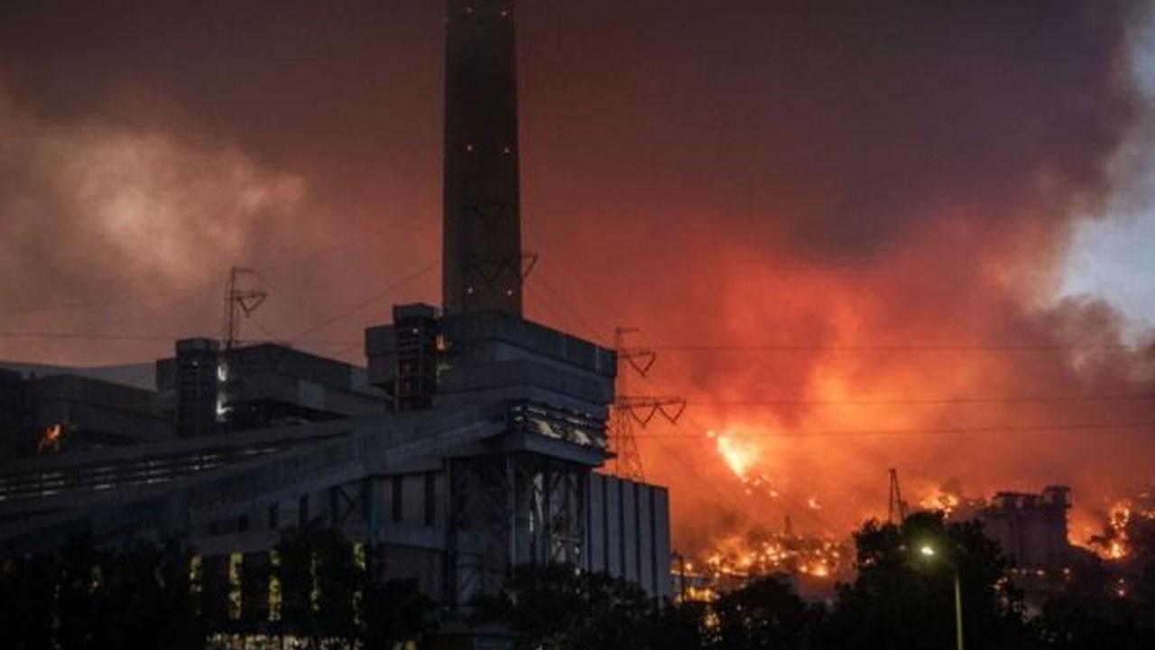 Termik santralde yangın kontrol altına alındı