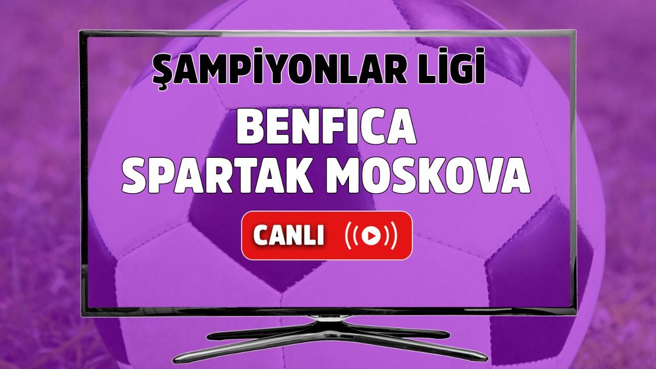 Benfica - Spartak Moskova Canlı