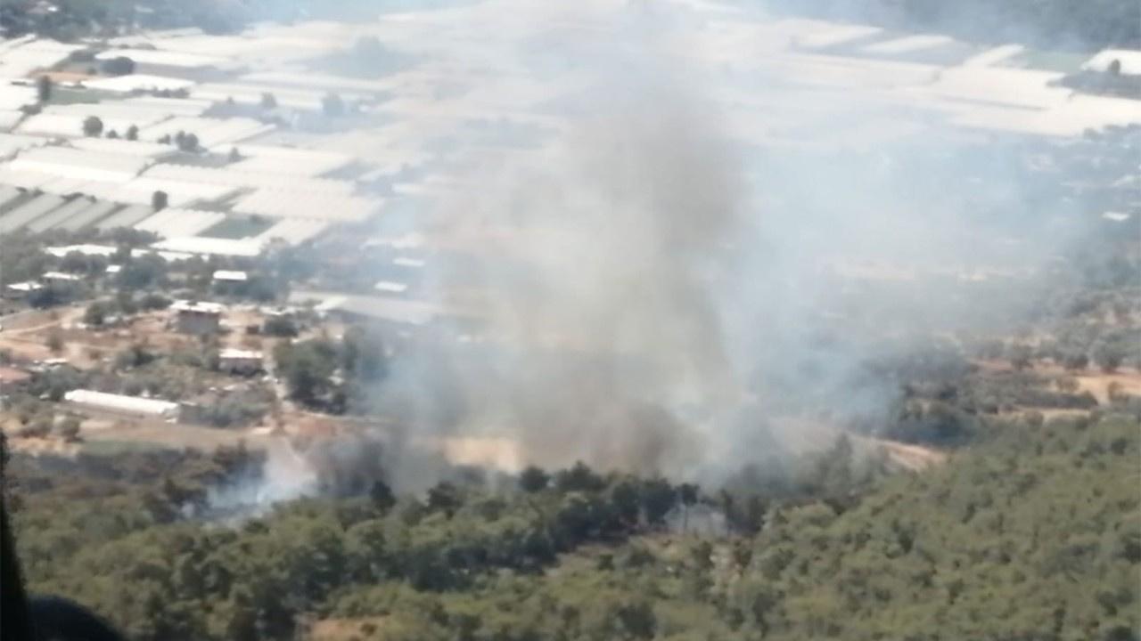 Seydikemer'de orman yangını çıktı