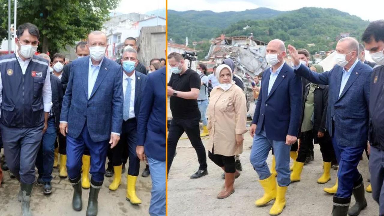 Cumhurbaşkanı Erdoğan sel bölgesinde...