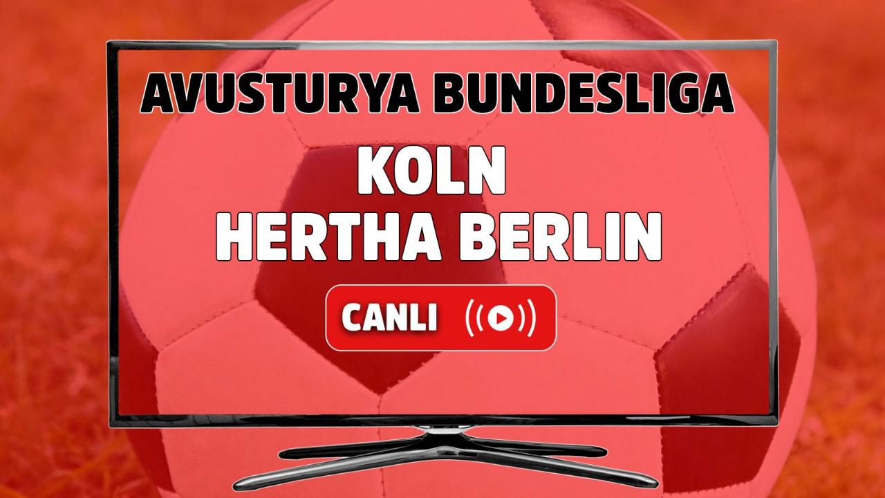 Köln – Hertha Berlin Canlı