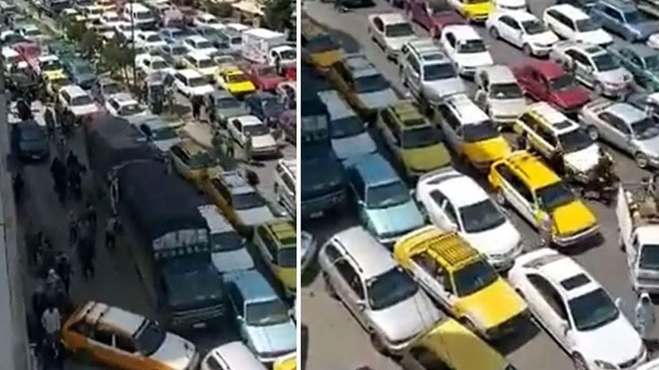Kabil'de kaos! Kaçmak isteyenler trafiği kilitledi