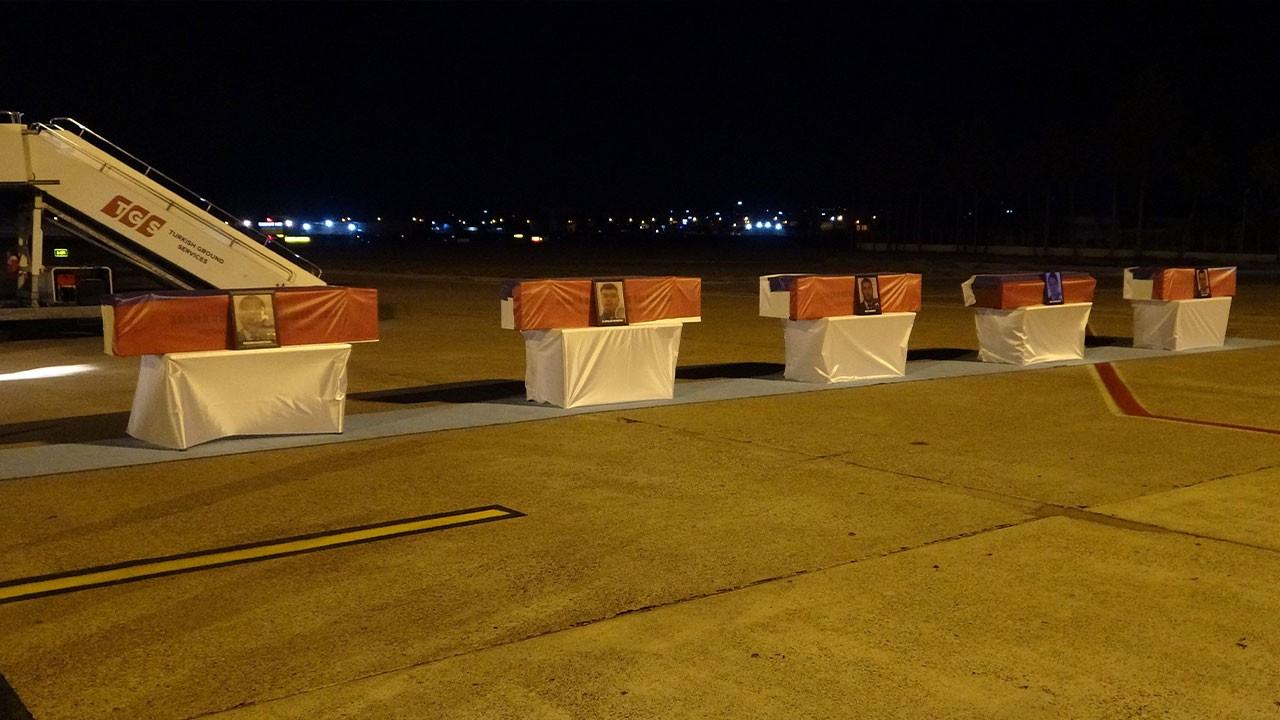 Uçak kazasında ölenler memleketine gönderildi